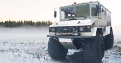 Создана четырехколесная версия арктического вездехода «Бурлак»